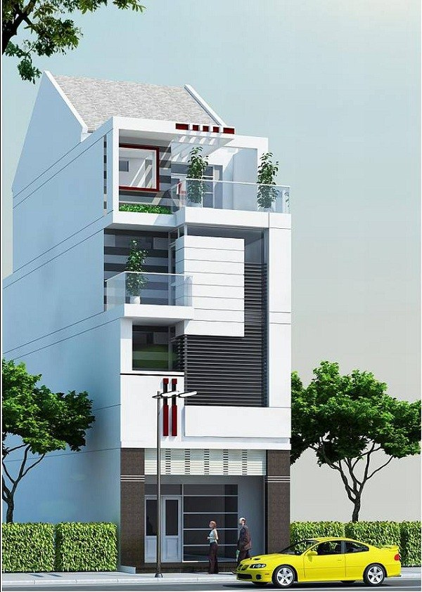 Thiết kế nhà phố 3 tầng đẹp và hiện đại