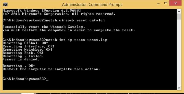máy tính không kết nối được Internet