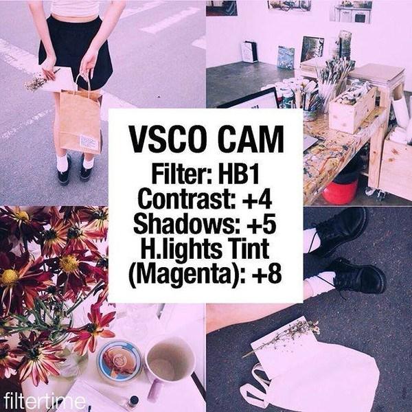 công thức chỉnh ảnh đẹp với Vsco