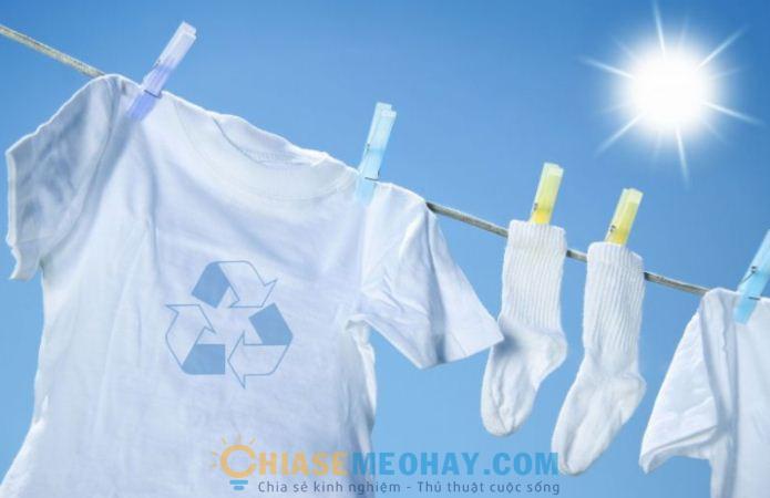 Bí quyết để quần áo luôn trắng sạch