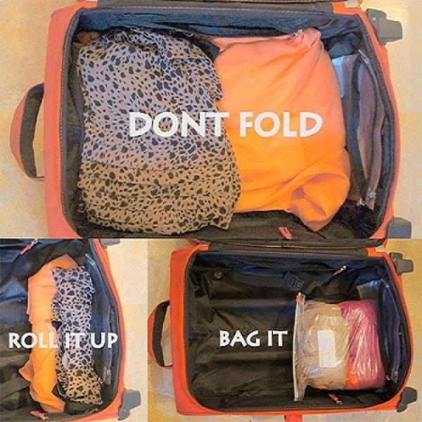 Cuộn đồ giúp tiết kiệm diện tích vali
