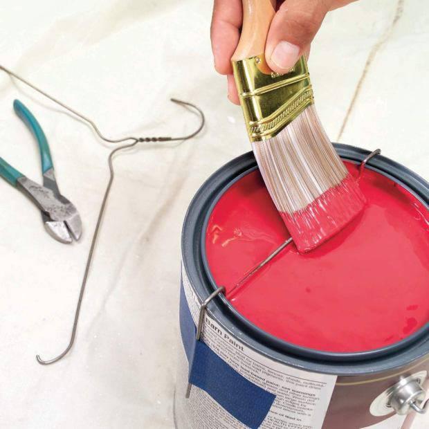 Nên có thanh thép uốn khi sử dụng sơn lon nhỏ