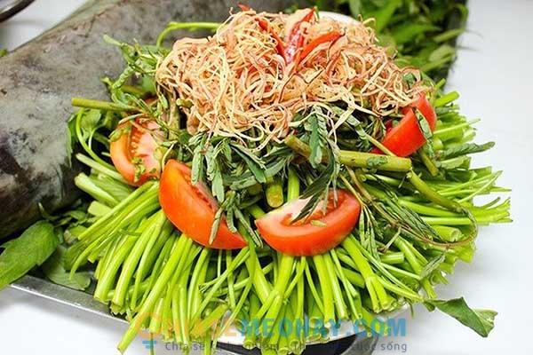 Các loại rau ăn lẩu cá trắm