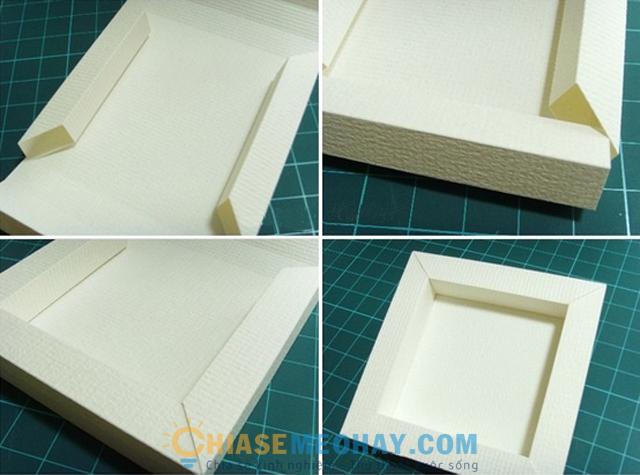 Các bước làm khung ảnh bằng giấy