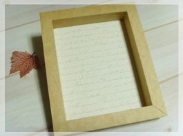 Làm khung ảnh bằng giấy