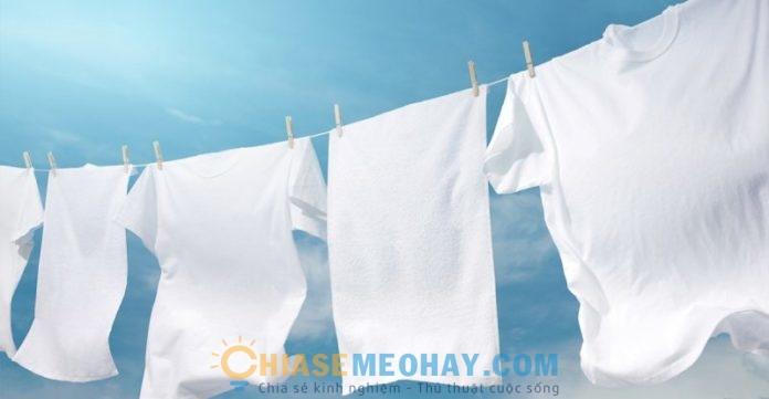 Cách xử lý vết bẩn trên quần áo trắng và mẹo giữ quần áo luôn trắng sáng