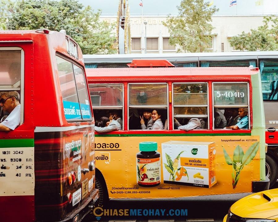 Đi xe từ Bangkok
