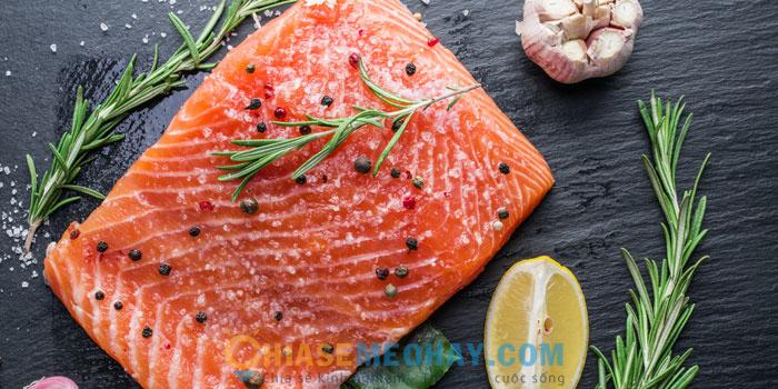Cách làm món cá hồi sốt cam