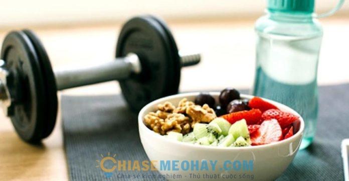 Chế độ ăn uống sau khi tập