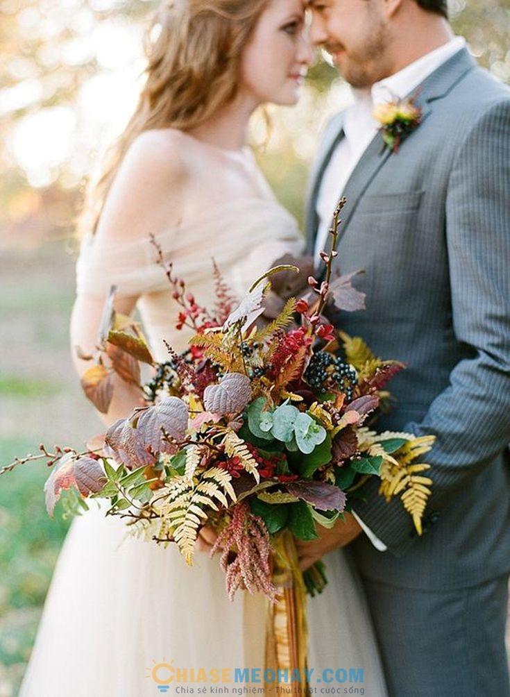 Những ý tưởng trang trí đám cưới mùa thu đông