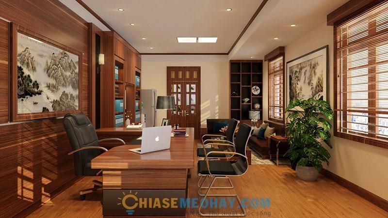 Thiết kế nội thất văn phòng giám đốc cần sang trọng nhưng vẫn thoải mái, gần gũi