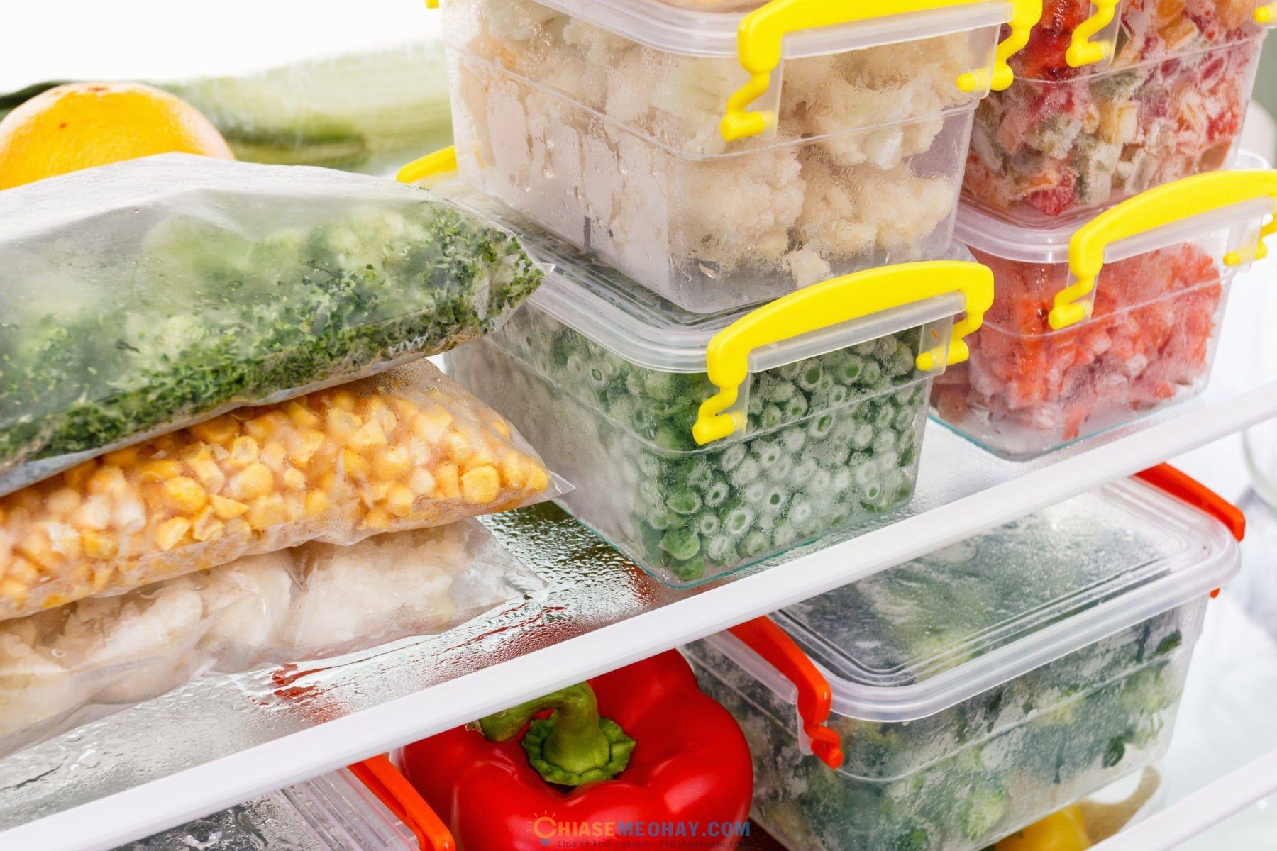 Cách bảo quản thức ăn ở ngăn đông