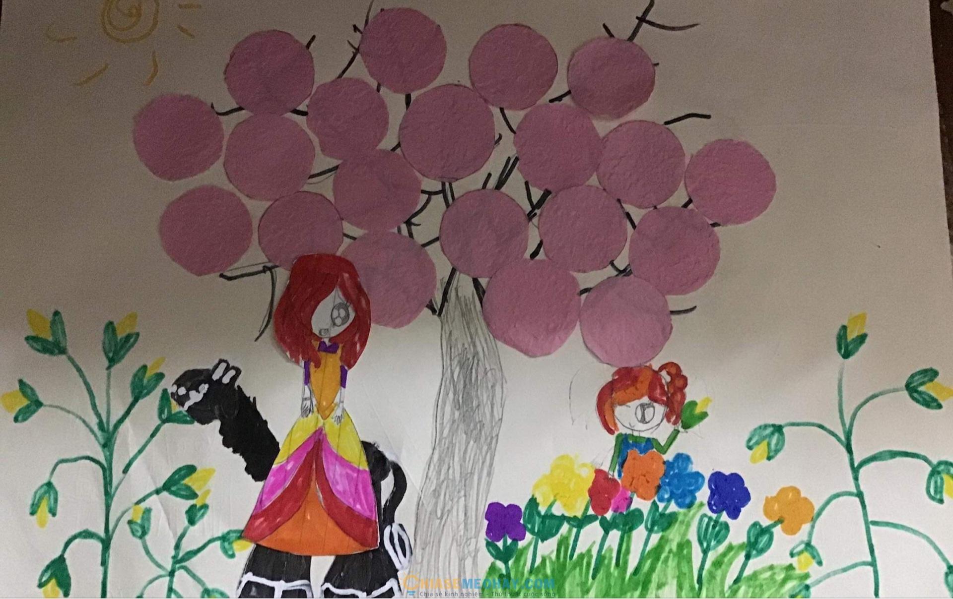 Bức tranh con vẽ tặng mẹ
