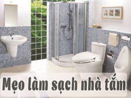 Các mẹo hay làm sạch phòng tắm đơn giản và nhanh chóng